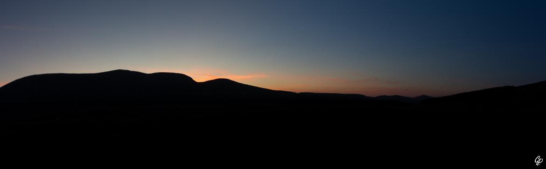 Coucher de soleil sur Glen Muick - Ecosse